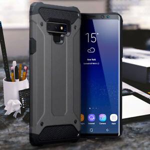 Galaxy-Note-9-Case-Impact-Shockproof-Rugged-Metal-Bumper-Grey-MOB21