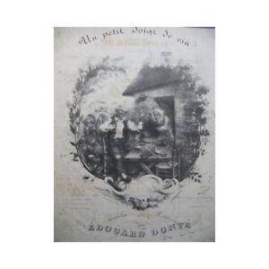 Donve-Edouard-ein-klein-Finger-Wein-Piano-Chant-ca1840-Partitur-sheet-music-sco
