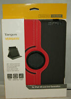 Targus Versavu Rotating Case And Stand For Ipad 3, 4 Charcoal Gray/calypso Pink