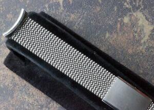 Vintage-watch-steel-mesh-USA-made-NOS-bracelet-Evinger-1960s-19mm-curved-ends