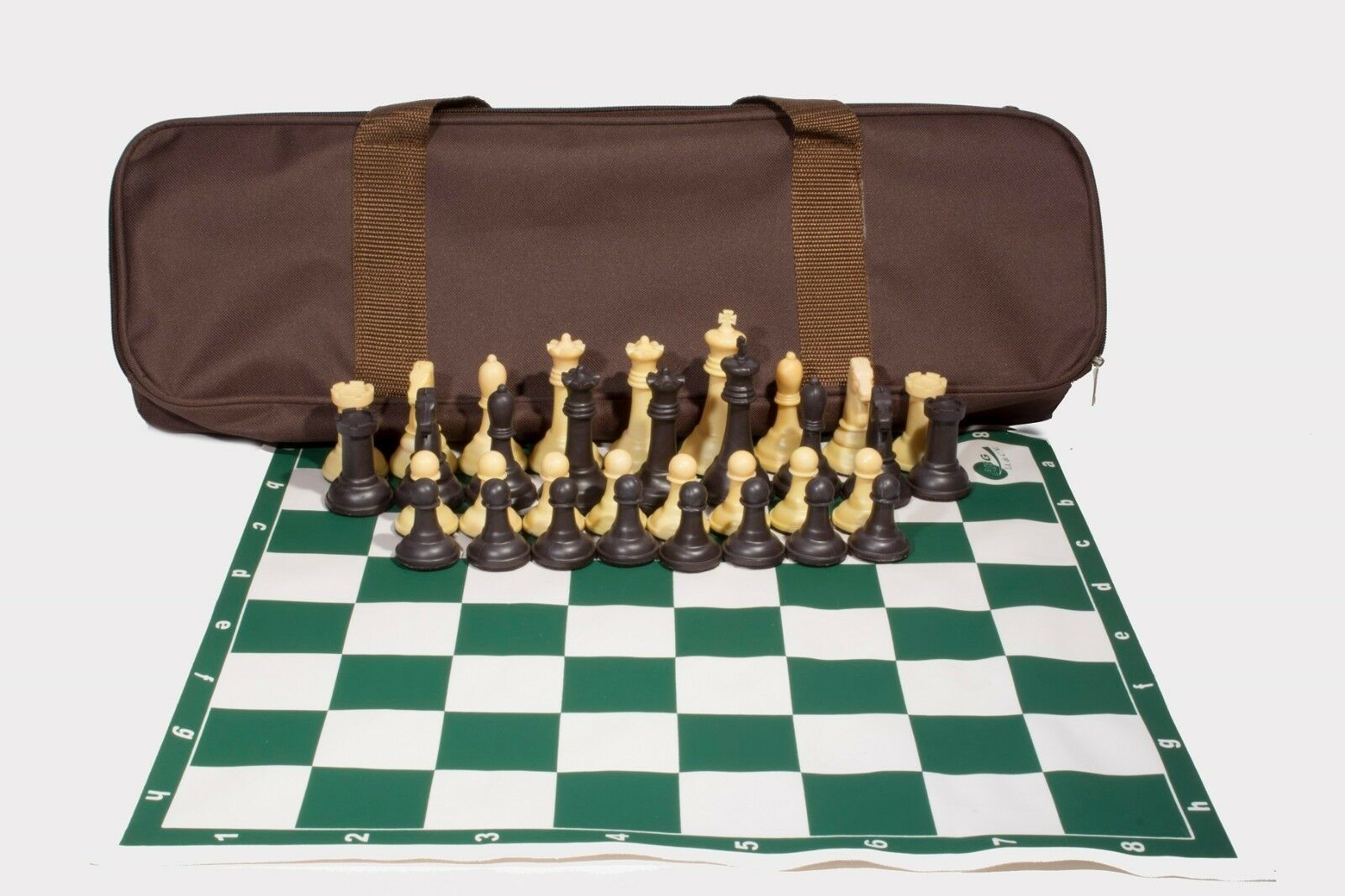Professional Tournament Chess. 2 Extra Queens. Weight  2.64 Lb. Brown - Beige