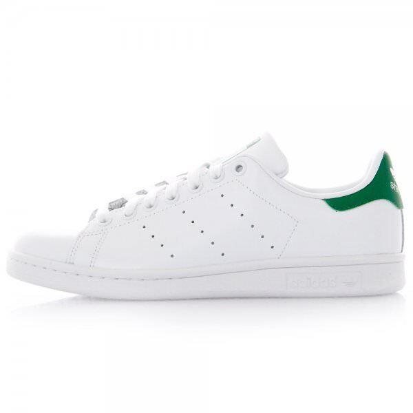 Adidas Originals Stan Reino Unido 5 & Verde 7 Blanco Smith & Verde & Cuero Zapatillas Tenis Nuevo 04d536