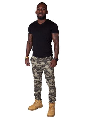 da Pantaloni da fit cargo uomo camouflage dell'esercito Pantaloni da uomo slim combattimento aR8qa