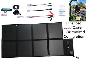 12V-120W-Folding-Solar-Blanket-Black-Silicon-Panel-Customized-configuration
