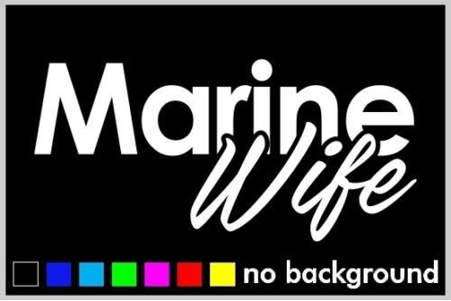 Marine Wife Sticker Vinyl Car Window Decal United State Military Troop Proud Job