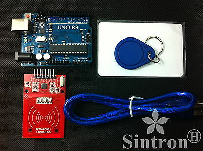 [Sintron] UNO R3 Board with RC522 RFID Reader Kit + PDF for Arduino AVR Learner