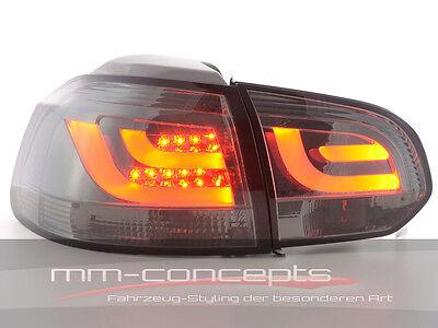 VW Golf 6 VI Led Rückleuchten R R20 GTI GTD schwarz dunkel Lightbar