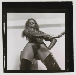 Original-vintage-1970s-bad-girl-nude-domina-in-leather-boots-contact-print