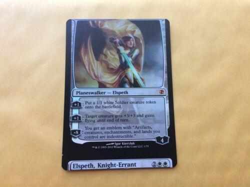 Heavily Miscut Foil Elspeth Knight-Errant NORMAL BACK EvT Misprint MTG Magic