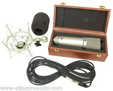 Neumann U87 Ai Set Z Microphone, EA-87, & Wood Box, in Nickel, New w/warranty