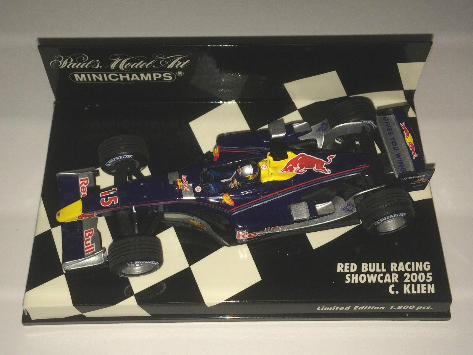 Minichamps F1 F1 F1 1 43 rouge bull racing car 2005-Christian Klien-L.E. 1800pcs 752f9c