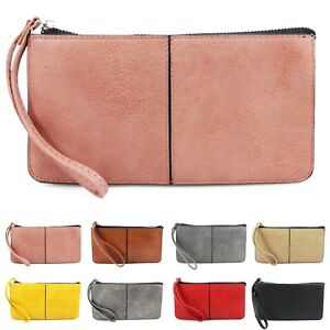 Cell Phone Bag Soft Pouch a Pink Small Smartphone Wristlet for Women and Girls