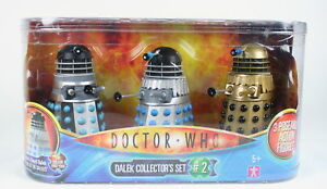 Doctor-Who-DALEK-set-SUPREME-EMPEROR-039-S-GUARD-SAUCER-PILOT-figure-toy-Dr-NEW