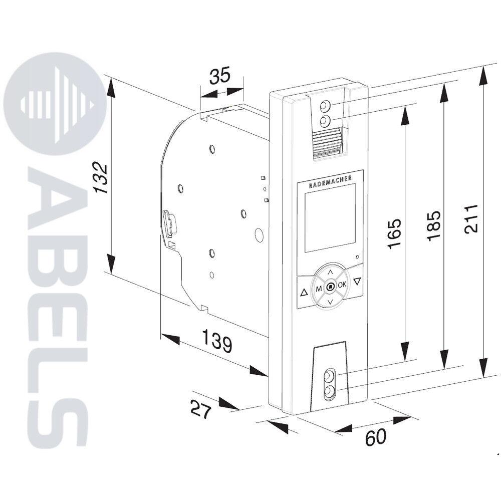 Rademacher RolloTron Comfort 1700 solaire incl. capteur solaire 1700 1,5 m fe2b4b