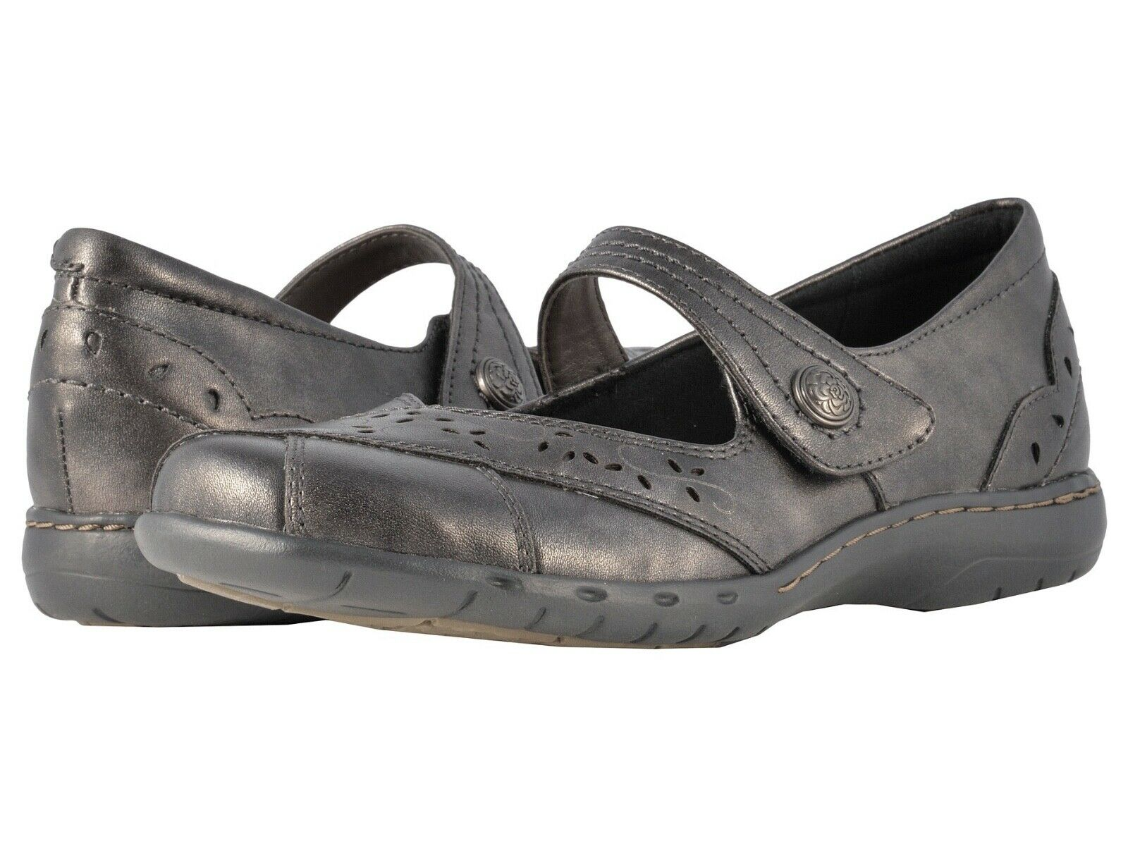 donna Rockport Cobb Hill Petra Mary Jane - Pewter Leather [CAG26PT]