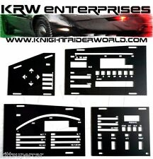 1982 PONTIAC FIREBIRD KNIGHT RIDER KITT 1TV DASH ELECTRONICS PLASTIC OVERLAY SET