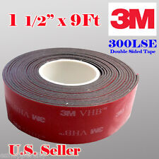 """3M 1.5"""" x  9 ft VHB Double Sided Foam Adhesive Tape 5952 Automotive Mounting"""