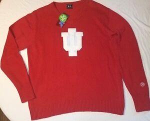 16d063ed8f NWT Mens L Red Alma Mater IU Indiana University Hoosiers V Neck ...