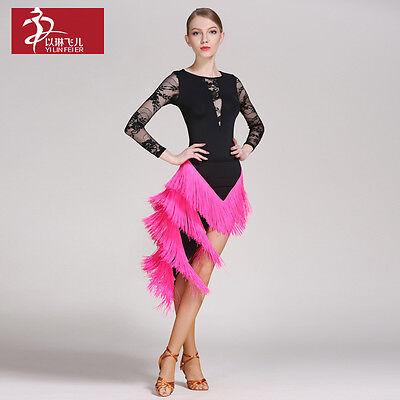 NEW Latin Salsa Tango Cha cha Rumba Ballroom Dance Dress Top /& Skirt #YL015+290