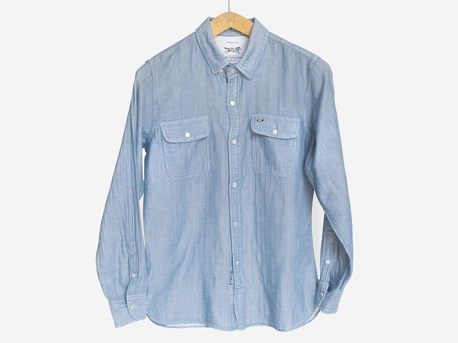 Camicia Obey Propaganda work shirt style 100% Cotone - Taglia S (Shepard Fairey)