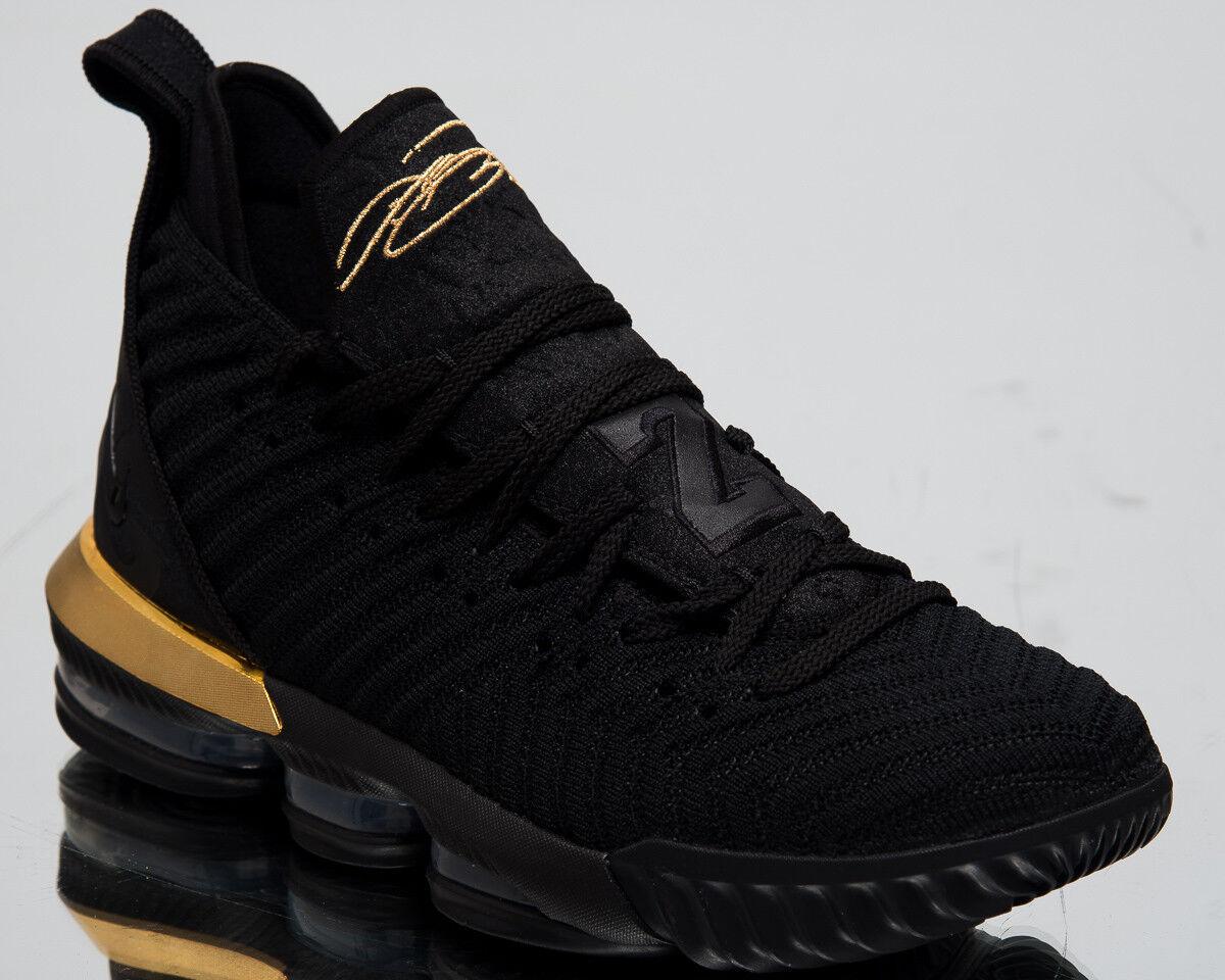 Nike LeBron XVI  I'm King  Men's New Black Metallic gold James shoes BQ5969-007