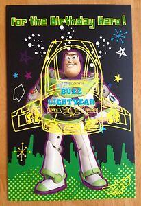 Disney-Toy-Story-Childrens-Birthday-Card-7-25-034-x4-5-034-Buzz-Lightyear