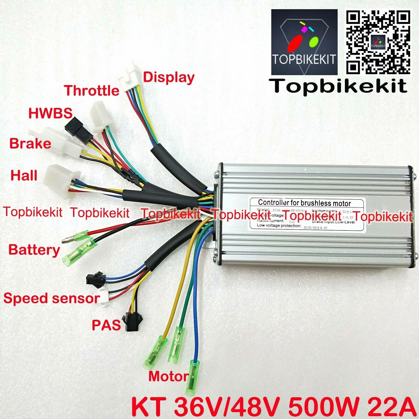 Ebike Controller 36V48V 500W KT T09S Sine Wave Controller For ebikeebike parts