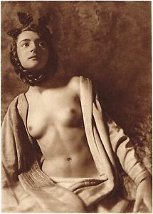 1920s-Vintage-German-Female-Nude-Model-Art-Deco-Smith-Photo-Gravure-Print