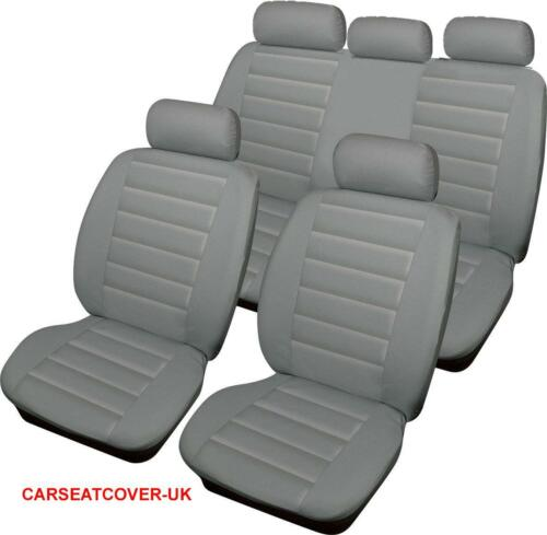 Full Set BMW X5 Series GREY Padded Leather Look Car Seat Covers