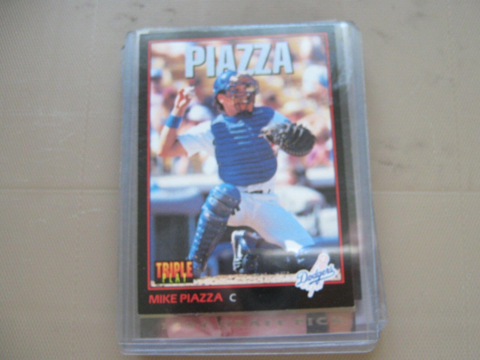 Mike Piazza , Leaf , 1993 , #55 , Baseball Card