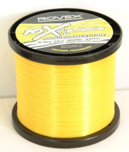 12lb-14lb-19lb Rovex 10X High Abrasion Clear Mono Line 300 Meters Spools