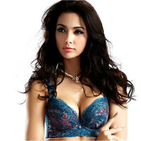 Peacock Embroidery Super Boost Cleavage Magic Enhancer Push Up Plunge Wonder Bra