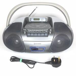 Panasonic-RX-D29-CD-MP3-Cassette-Player-Recorder-FM-Radio-Boombox-Ghetto-Blaster
