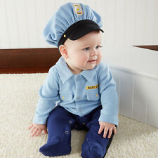 "Police Officer 2 Piece Baby Outfit Layette Gift Set ""Big Dreamzzz"" Baby Aspen"