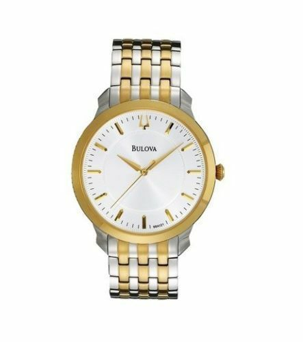 Bulova 98A208 Men's 38mm Two Tone Stainless Steel Watch NWT