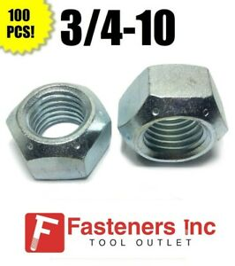 Square Nut 18-8 Stainless Steel 3//4-10 Qty-250