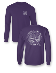 Sassy Frass The Mountains are Calling I Must Go Jeep Long Sleeve Comfort Colors
