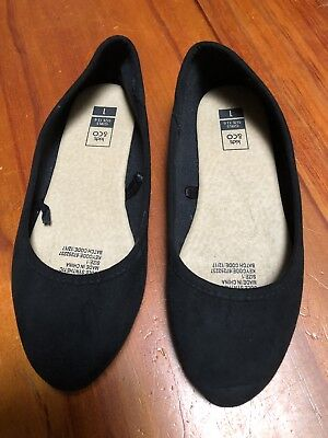 BNWT Little Girls Sz 8 Rivers Doghouse Brown Suede Look Ankle Cuff Flat Shoes