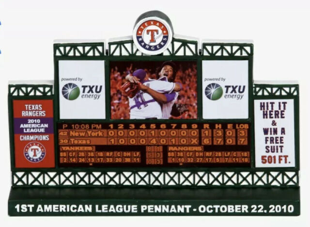 Texas Rangers 2010 AL Pennant Scoreboard SGA | eBay
