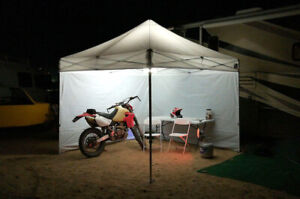 Details about Pop Up Canopy LED Lighting Kit Waterproof EZ Tent Awning  Gazebo Universal