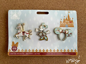 2020-Disney-Minnie-Mouse-Main-Attraction-Limited-King-Arthur-Carrousel-Pin-Set