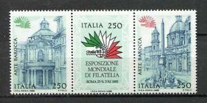 35539) Italy 1985 MNH New Art Baroque 3v. Strip