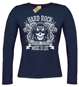 Music-is-life-T-Shirt-Womens-long-sleeve-ladies-hard-rock-festival-biker-top