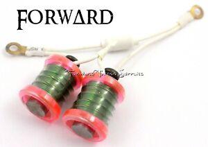 "1"" 8-32 Tattoo Machine 7.5 Wrap Chameleon Pink Washers Clear White Green Wire"