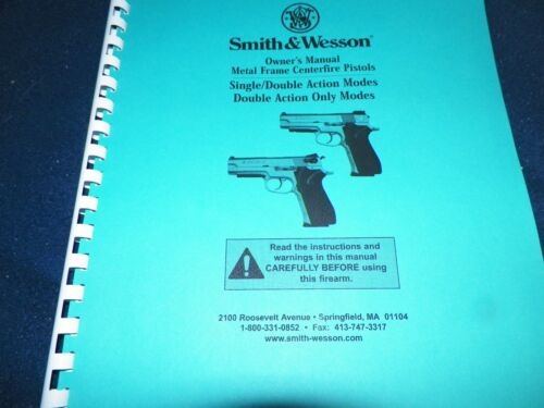 Blue /& Stainless Smith /& Wesson 33 Pages Metal Frame Centerfire  Pistols