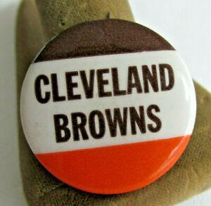 VINTAGE-CLEVELAND-BROWNS-PINBACK-BUTTON-NFL-Football-1-1-4-inch-1950s-60s-era