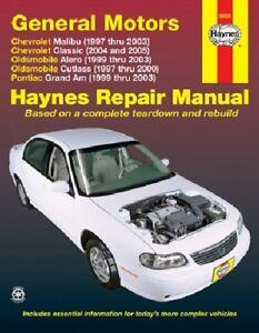 repair manual fits 1999 2003 pontiac grand am haynes 9781563925375 rh ebay com 1999 pontiac grand am manual 1999 pontiac grand am repair manual free download