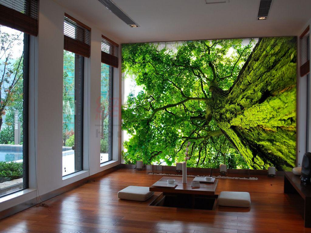 3D Green Nature Tree 7 Wall Paper Murals Wall Print Wall Wallpaper Mural AU Kyra