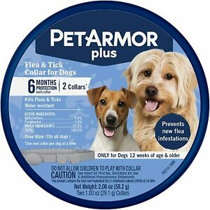 New-Pet-Armour-Plus-for-Dogs-Flea-amp-Tick-2-Pack-Collars