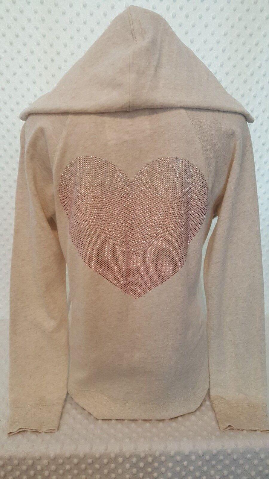 NWOT Victoria's Secret ANGEL Long Sleeve Hoodie Pink Rhinestones Rhinestones Rhinestones Oatmeal L c8aca4